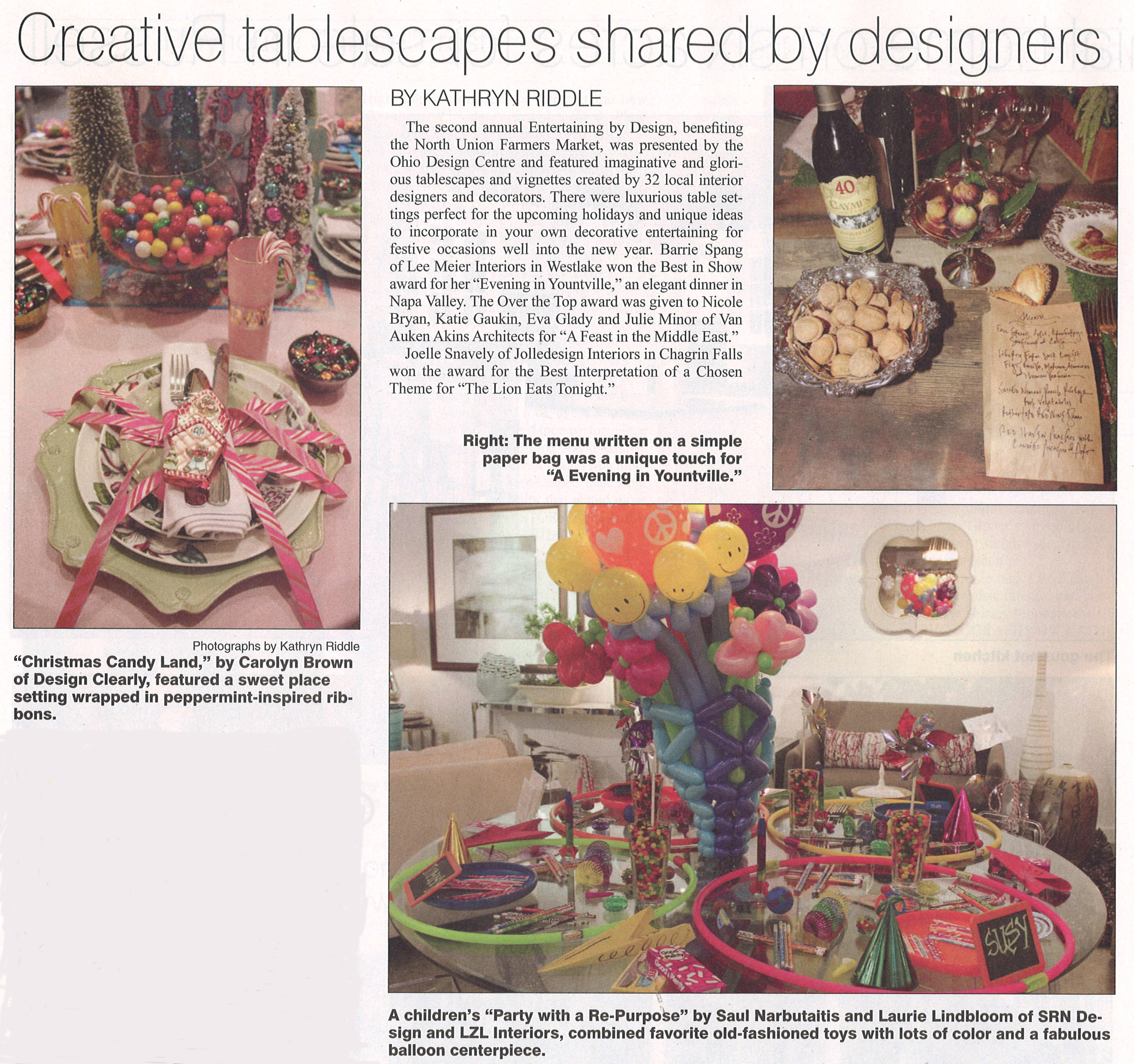Creative tablescapes shared by designers