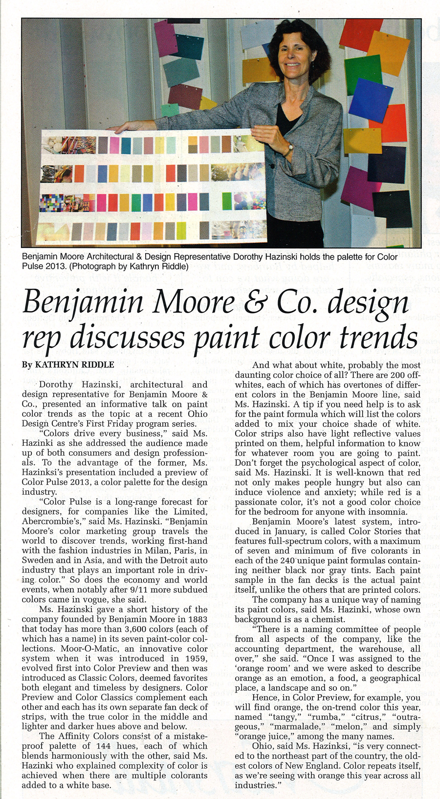 Benjamin Moore & Co. design rep discusses paint color trends