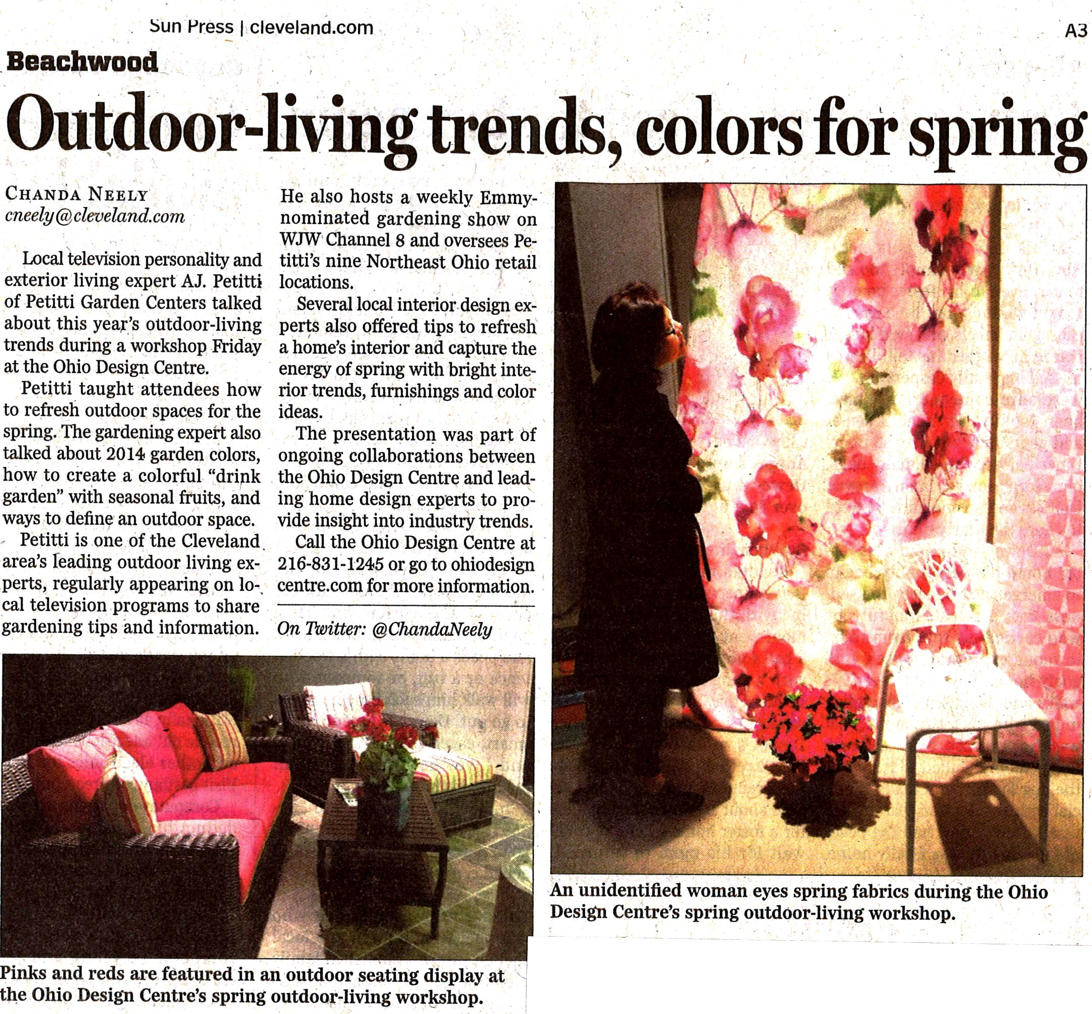 Outdoor-living trends, colors for spring