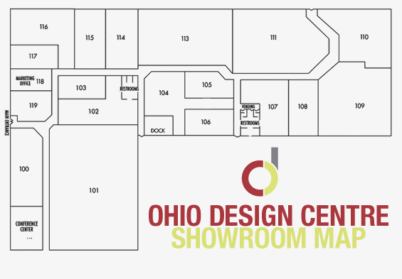 Ohio Design Centre showrooms map